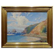 Cyrus James Fulton -California Coastal Landscape -1930s Impressionist Oil painting