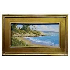 David Chapple -Panoramic View of Laguna Beach California -Oil Painting