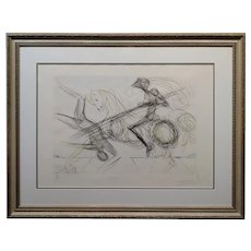 Salvador Dali - The Black Knight - Color Etching