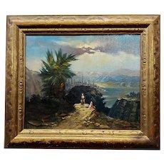 Christian David Gebauer -19th century Orientalist Landscape -Oil painting