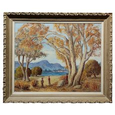 Mabel Cage -1950s Lake Tahoe landscape - California Oil painting