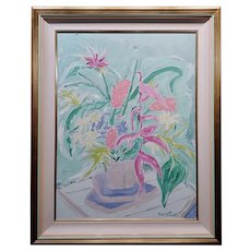 Tony Curtis - Still Life of Flowers -Oil painting