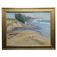 Joan Milligan - Goleta Beach - Beautiful California Oil painting