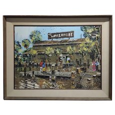 Paul Blaine Henrie -The Warehouse in Marina Del Rey - Oil painting
