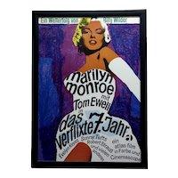 Billy Wilder Marilyn Monroe Poster - 1955