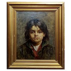 Portrait of a Brat - 19th century German Oil painting
