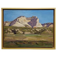 Conrad Buff- Mountain Landscape -Oil painting