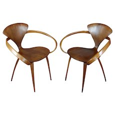 1950s Norman Cherner for Plycraft Pretzel Chairs - a Pair