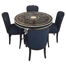 J. Robert Scott -Fabulous Game Table with 4 chairs