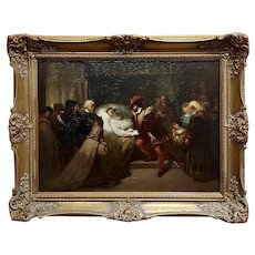 Frederik Willem Zurcher -Rembrandt on his deathbed-Oil painting-c1860s