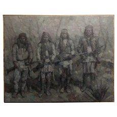 Stevan Kissel - Group of Apache Renegades - Oil painting