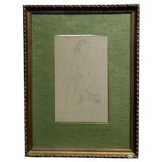 Edgar Degas -Study of a Woman -Etching on paper-Signed