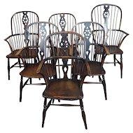18th century George III Windsor Chairs- Set of 6