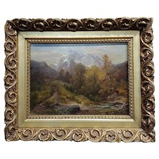 A. Waugen -19th century beautiful Swiss Landscape-oil painting