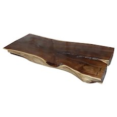 "African Leadwood Slab ""Monumental"" coffee Table"