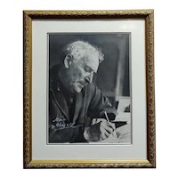 Portrait of Marc Chagall - Original 8x10 Photograph -Signed -c1960s