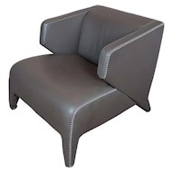 Roche Bobois Fabulous Modern Leather Club Chair