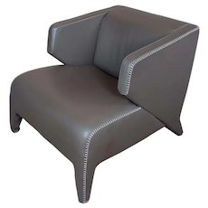 Roche Bobois Fabulous Modern Leather Club Chair