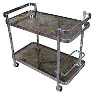 Orsenigo - Vintage Italian Chrome & Glass Bar Cart Trolley