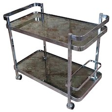 Orsenigo - Vintage Italian Chrome & Glass Bar Cart Trolley