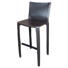 Cassina Cab 410 Mario Bellini Barstool -Brown Leather