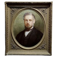 19th century Portrait of a distinguished Gentleman - Oil painting