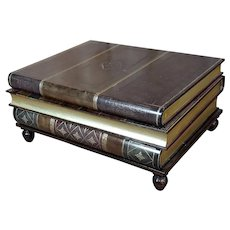 Maitland-Smith Stacked Leather Books Form Coffee Table