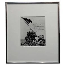 Joe Rosenthal -Raising of the Flag-1945 Iconic Silver Gelatin-Signed