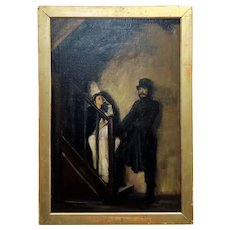 After Sir William Rothenstein - The Doll's House -Oil painting
