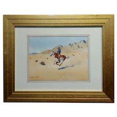 Leonard Reedy - Cowboy Desert Rider - Painting