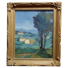 Italian Country side - 1920s Oil painting