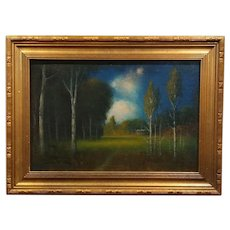 James Everett Stuart- Near Terrytown New Jersey - Oil Painting 1921