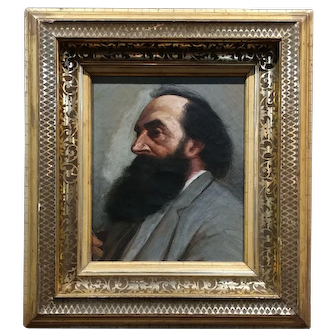 19th century Portrait of a Patriarch - oil painting c.1880s