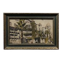 Mission Inn Riverside -Antique hand tinted photograph c1900s