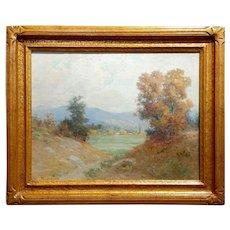William Lees Judson -Pasadena Arroyo Seco-c.1900-Impressionist-Oil painting