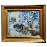 Douglass Parshall - Tiled Fountain -Oil Painting - California Impressionist