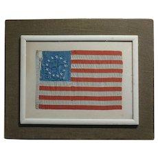 19th century Antique 13 Stars US Flag -Betsy Ross  -circa 1876