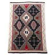 Navajo beautiful Hand Woven Wool Rug w/intricate Geometrics-c1920