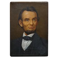Abraham Lincoln Portrait -Illinois Watch advertising painting on canvas 1913