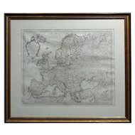 Guillaume Delisle 17th/18th century Map of Europe