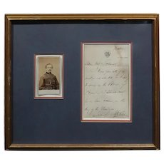 Daniel Sickles -US Civil War General-Original Signed letter & CDV Photo -c1860