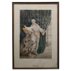 Louis Icart -Casanova - Original 1920s Lithograph -Pencil Signed