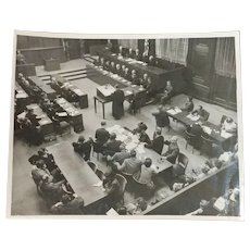 Nuremberg Trial -Original 8x10 Silver gelatin photo