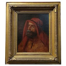 19th century Orientalist -Portrait of a Patriarch  - Oil painting -c.1880s