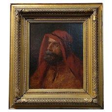 19th century Orientalist -Portrait of a Patriarch  - Oil painting -c.1880s