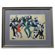Lucille Miller -African American Dancing Jazz-1930 - Painting