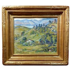 Donna Schuster - View of Silverlake - oil Painting- California Impressionist