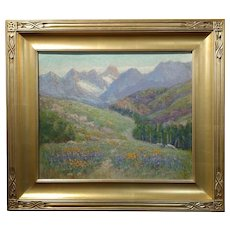 Frederick Carl Smith -California Wild Flowers-Beautiful Impressionist -Oil painting