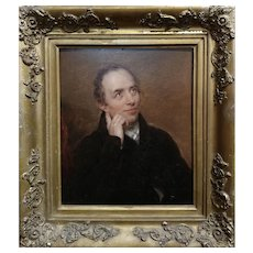 19th century English School -Portrait of a Gentleman -oil painting c.1820/40s