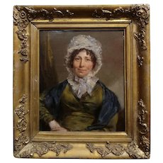 19th century English School -Portrait of a Woman -oil painting c.1820/40s